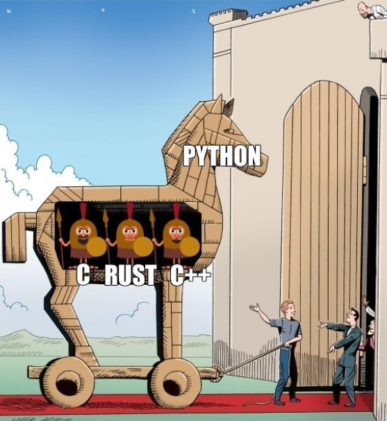 Python as frontend